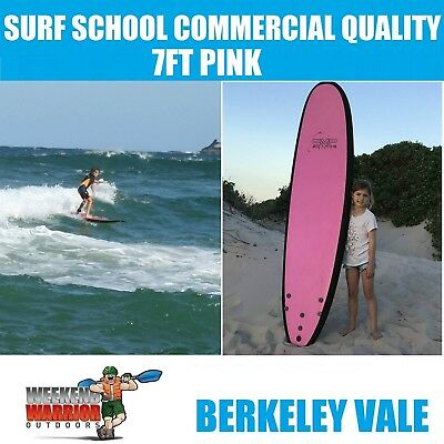 7ft SOFTBOARD Pink Foam Surfboard Learn to Surf Soft Board COMMERCIAL QUALITY