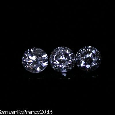 0,31 cts au total : LOT de 3 DIAMANTS NATURELS,  COULEUR E,  VSI 1