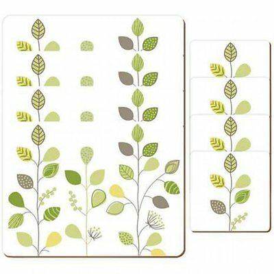 Leaf Placemats and Coaster Kitchen Food Serving Tableware Dinning Mats Set Of 8