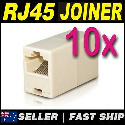 10x RJ45 CAT5e CAT6 Network LAN Cable Extension Coupler Joiner Connector ADSL 2+