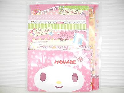 Sanrio My Melody Letter Set w/ PVC Folder,5 paper & 2 envelope designs + Sticker