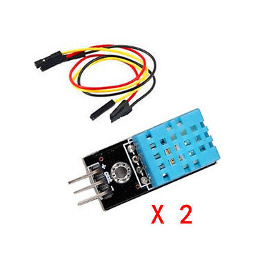 2pcs DHT11 Temperature and Relative Humidity Sensor Eletronic Module for Arduino