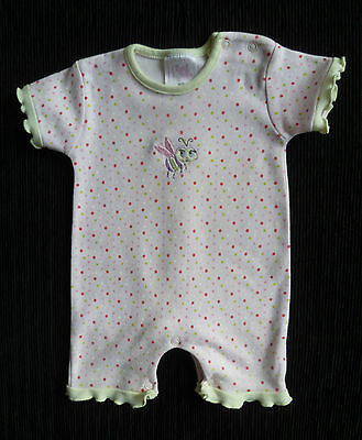 Baby clothes GIRL newborn 0-1m soft cotton spotted bee pink romper short sleeve