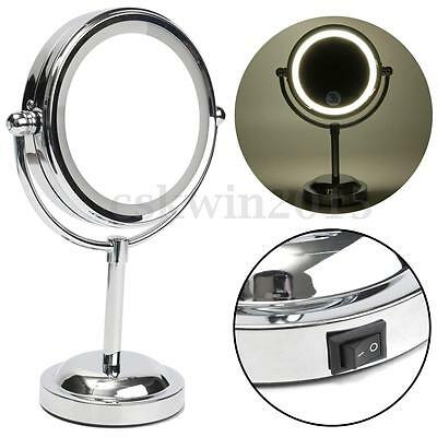 LED Beauty Makeup Lamp Cosmetic Magnifying Cosmetic Bathroom Mirror Double Sided