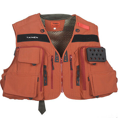 Taimen Master Tech Vest Baked Clay - (Fly Fishing Vests)