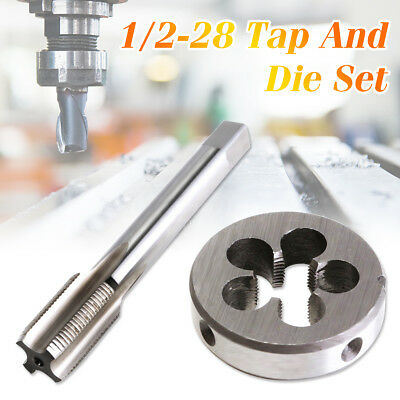 1/2-28 UNEF Hand Tap & Round Die Set HSS Right Hand Tapping Hand Cutting Tool