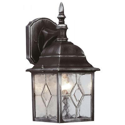 Leaded Effect 4 Sided Lantern+6w LED Bulb Traditional Wall Lantern with LED Bulb