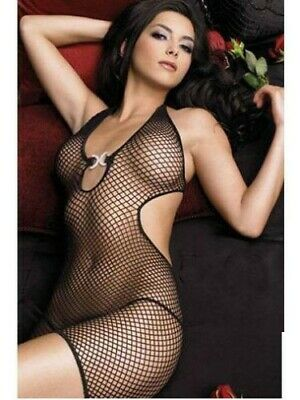 Bodystocking Tuta A Rete Sexy Lingerie Intimo Donna Hot Catsuit Body Oixex