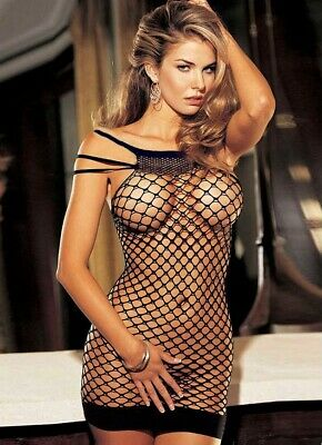 Sexy Lingerie Intimo Donna Bodystocking Tuta A Rete Catsuit Hot No Body