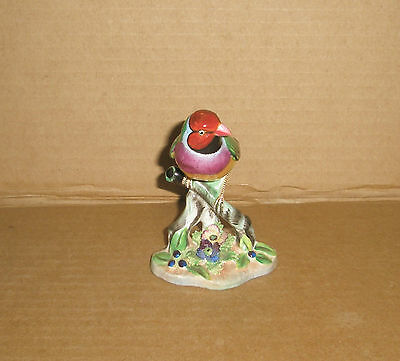 Bird Figurine Gouldian Finch / bone china