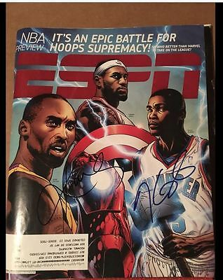 Kevin Durant & Kobe Bryant Signed ESPN The Magazine Autograph Thunder Lakers