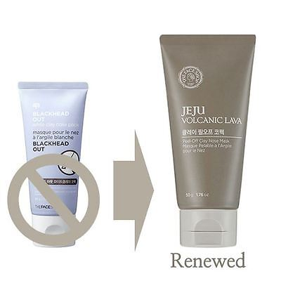 THE FACE SHOP Jeju Volcanic Lava Peel-off Clay Nose blackhead Mask Pack 50g