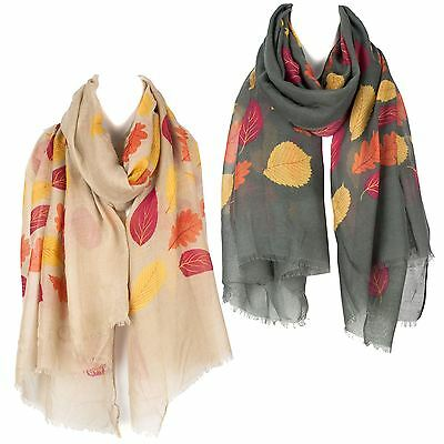 Autumn Leaves Ladies Womens Scarf Shawl Wrap