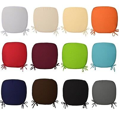 Luxury Foam Cushion Removable Seat Cover Pads Tie On Garden Dining Kitchen Chair