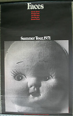 1971 Faces Rod Stewart concert poster Summer Tour Maggie May