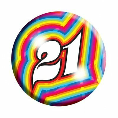 Amscan I AM  21 Today Happy 21st Birthday Badge Unisex Girls Boys 61mm Diameter