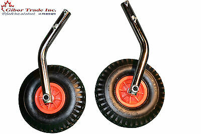 10 inch Boat Transom Launching Wheels For Inflatable Aluminum Fiberglass Trolley