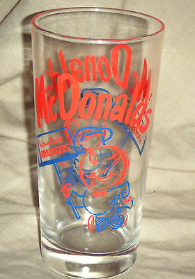 Vintage 1950's Style Design McDonalds Advertising Glass