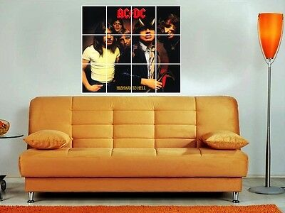 """Ac/dc Highway To Hell 36""""x32"""" Inch Mosaic Wall Poster Hip Hop Rap Acdc"""