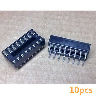 10PCS 16-Pin 16P  Narrow DIP SIP Round IC Sockets Adaptor Solder Type Socket