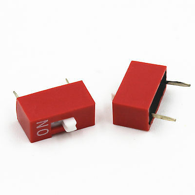 10* Red 2.54mm Pitch 1-Bit 1-Positions Ways Slide Type DIP Switch Replacement