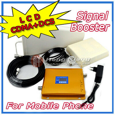 LCD Display CDMA 850mhz DCS 1800mhz Mobile Phone Dual Band Signal Booster