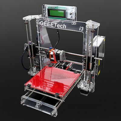 ABS/ PLA Filament Acrylic Geeetech 3D Printer MK2A heatbed XYZ stainless steel