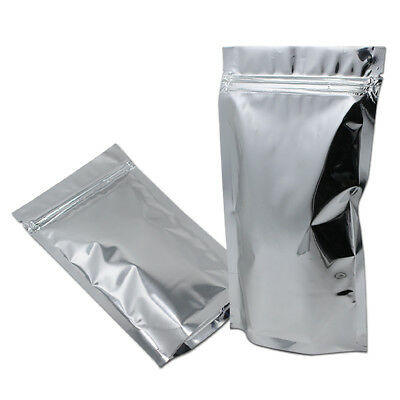 Mylar Stand Up Foil Bags Resealable Pouch Ziplock Packaging Aluminum Food Grade