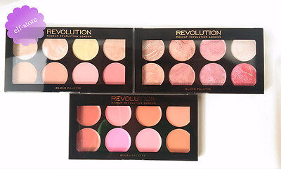 Revolution MakeUp Blush Palette 3 Shades blusher highlighter cream/powder/baked