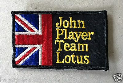 Vintage Sew-on Patch John Player Team Lotus with Union Jack, British Flag