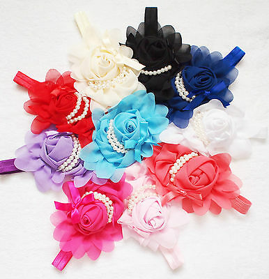 Baby Girls Kids Flower Bow Hairband Soft Elastic Band Headband Hair Accessories