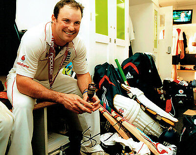 Andrew STRAUSS Signed Autograph ENGLAND Cricket ASHES Winning Photo AFTAL COA