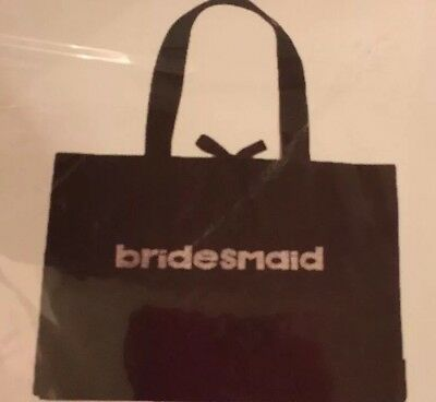 New Bridesmaid Tote With Bling Tote Bag/ Wedding/ Bridal partyi Black