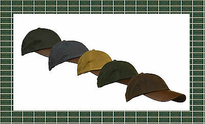 Uni-sex Wax Baseball LEATHER PEAK Cap Shooting Riding Outdoor 6 Colours One size