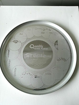 Vintage Quality Records Limited Collector Tray Etched Stainless Steel