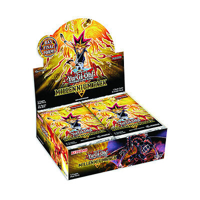 YuGiOh Millenium Booster Box - 36 Packs - Millennium -*New Egyptian God Card