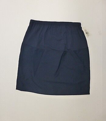 Cali Fashions Womens Size L Air Force Blue Maternity Suit Skirt New