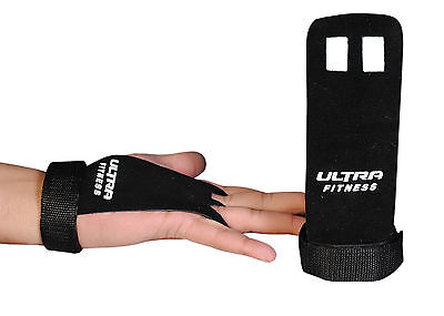 CROSSFIT GRIPS LEATHER PALM PROTECTORS HAND GUARDS GYM GLOVES PULL UP gymnastics