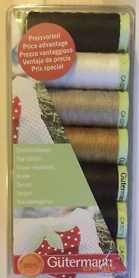 Gutermann TOP STITCH Thread Set Extra Strong - 7 Reels of 30m ASSORTED COLOURS