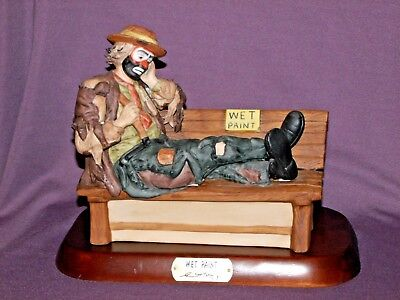 Emmett Kelly Wet Paint Flambro Limited Edition with Base