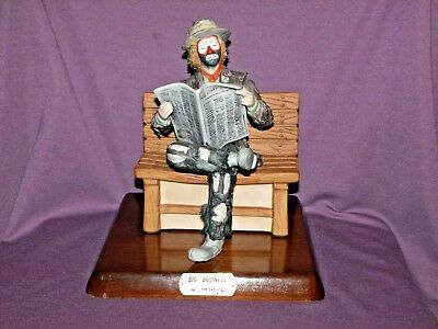 Emmett Kelly Jr Big Business Flambro Limited Edition with Base