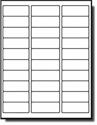 """Americopy 3,000 Label Pack of NAME & ADDRESS LABELS, 2-5/8"""" x 1"""" White"""
