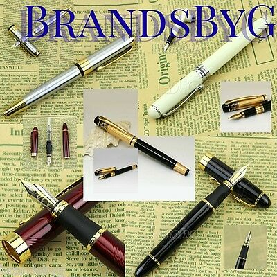 New Fountain Calligraphy Pen Fine to Medium Nib Black Ink Refillable Bladder