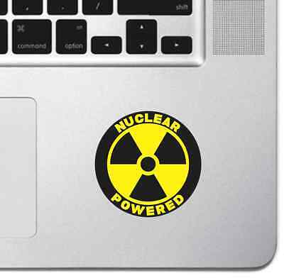 Nuclear Powered Macbook Pro Air Sticker Decal Skin Laptop Decal iPad Decal Apple