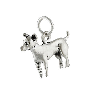 Chihuahua Dog Charm - 925 Sterling Silver - Puppy Small Mexican Breed Pet NEW