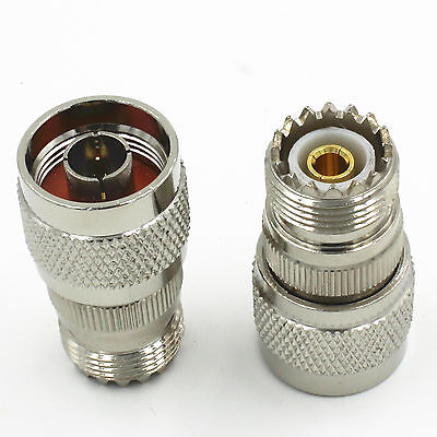 1pcs N-Type Male Plug to UHF PL259 Female SO-239 Adapter Connector