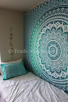 Large Mandala Tapestry Indian Wall Hanging Ombre Bedspread Hippie Throw Blanket
