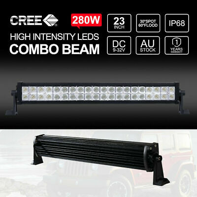"23 inch Led Light Bar 280W Bars Spot Flood Combo Off Road Work Driving 22"" 12V"