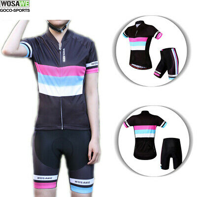 Hot Cycle Team Women Cycling Bike Short Sleeve Sports Bicycle Jersey+Shorts Set