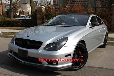 For Mercedes Benz W219 CLS55 CLS63 AMG Only Add Carbon Fiber Front lip Spoiler